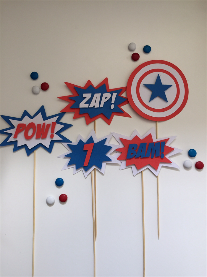 captain america cake toppers glitter glue designs on madeit captain america cake toppers glitter
