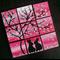 romantic present for partner, pink paintings for nursery, art for girls bedroom,