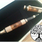 Hand Turned Tasmanian Oak (Segmented with Merbau) Cigar Americana Ink Ball Pen