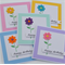 Set of 5 Embroidered Flower Birthday Cards