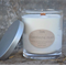 HAND POURED NATURAL SOY WAX WOOD WICK CANDLE X Large glass jar with lid