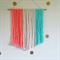 Peach Mint Cream Yarn Wall Hanging