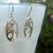 Sterling Silver oval, dangle earring