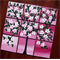 pink and white painting of cherry blossom tree, tree art, pink homewares, pinks