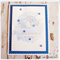 Silver Origami Elephant Handmade & Watercoloured in Blue - Happy Birthday