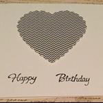 Happy Birthday  Heart  card