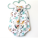 Vintage Mermaid Playsuit - 0000 Newborn