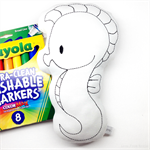 Colour Me Seahorse with Washable Markers
