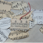 Handmade Vintage Sheet Music Gift Tags  Set of 10