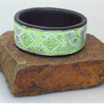 Springtime polymer clay bangle