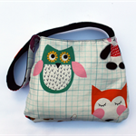 Owl and Fox Reversible Shoulder Bag