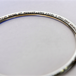 Quote Bangle, Personalised Bangle, Hand Stamped Bangle, Gift for Daughter