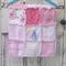 OOAK Pink Vintage Chenille Patchwork Rag Quilt