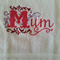 Hand Towel Mum Design