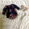 Gorgeous Navy Floral Long Sleeve Romper Playsuit
