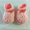 baby shoe | booties | flower | mary jane | wool |