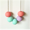 Dusty Rose, Mint, Lavender Polymer Clay Basics Necklace