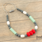 Silicone Teething / Nursing Necklaces - Red, Mint, Grey & White, Annabel