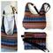 Hobo Handbag Purse and Wristlet  SET in Colourful Tibetan Style Fabric