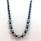 Polymer Clay Bead Necklace in Black and White, Hand made