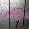 pink cherry blossom on a japanese painting by Australian artist, cherry blossoms