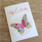 Happy 1st Birthday Butterfly Card