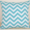 Teal Chevron Designer Cushion Cover