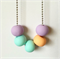 Lavender, Mint, Peach Polymer Clay Basics Necklace