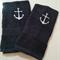 Set of 2 Hand Towels Anchor Design