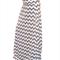 Grey Chevron Maxi Skirt in Cotton Jersey