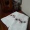 Set of 2 Hand Towels Cotton Flower Design