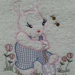 Baby  Towel Bunny & Bees   Design (Vintage)