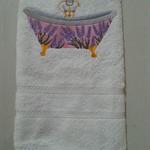 Hand Towel Lavender Bathtub Design
