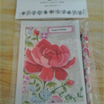 Cellophane Pack of 5 Australian Handmade Floral and Bird Theme Greeting Cards