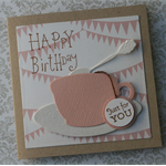 3 Card Pack ~ Happy Birthday ~ Cup and Saucer ~ Balloon Card ~ Star Card