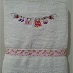 Baby Towel Baby Girl Clothesline Design