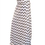 Grey Chevron Maxi Skirt in Cotton Jersey