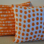 Orange Designer Cushion Cover