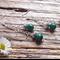 Malachite Gemstone Drop Earrings