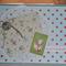 Baby Boy vintage  Handmade Card