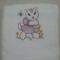 Baby  Towel Kitten and Flowers   Design (Vintage)