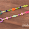 Dummy/Pacifier Clip / Teether / Baby-wearing accessory - Girl, Pink,  Colourful