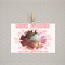 Birth announcement pink & gold - print yourself design