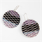 Photographic Earrings - Pattern Play - Silver and Purple
