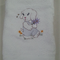 Baby  Towel Puppy and Flowers Design