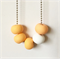 Peach and White Polymer Clay Basics Necklace
