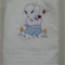 Baby  Towel Goat and Flowers  Design     (Vintage)