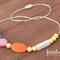 Teething / Nursing Necklace - Orange, Aqua, Pink, White & Pastel Yellow, Abby