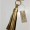 Metallic bronze leather keyring