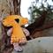 Fluffy Orange Koala Softie With Sleepy Eyes
